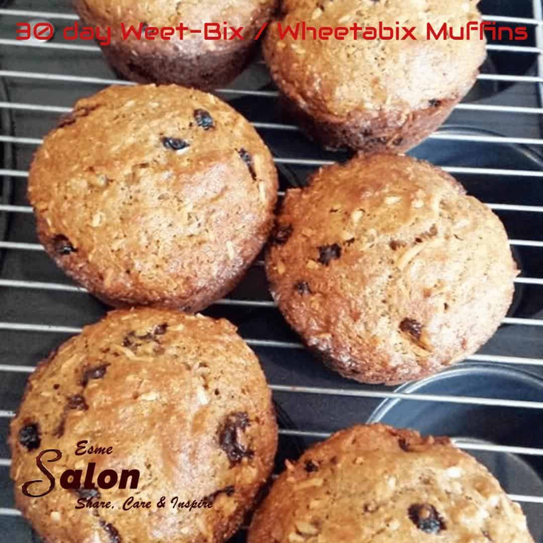 30-day Whole-wheat / Weet-Bix muffins