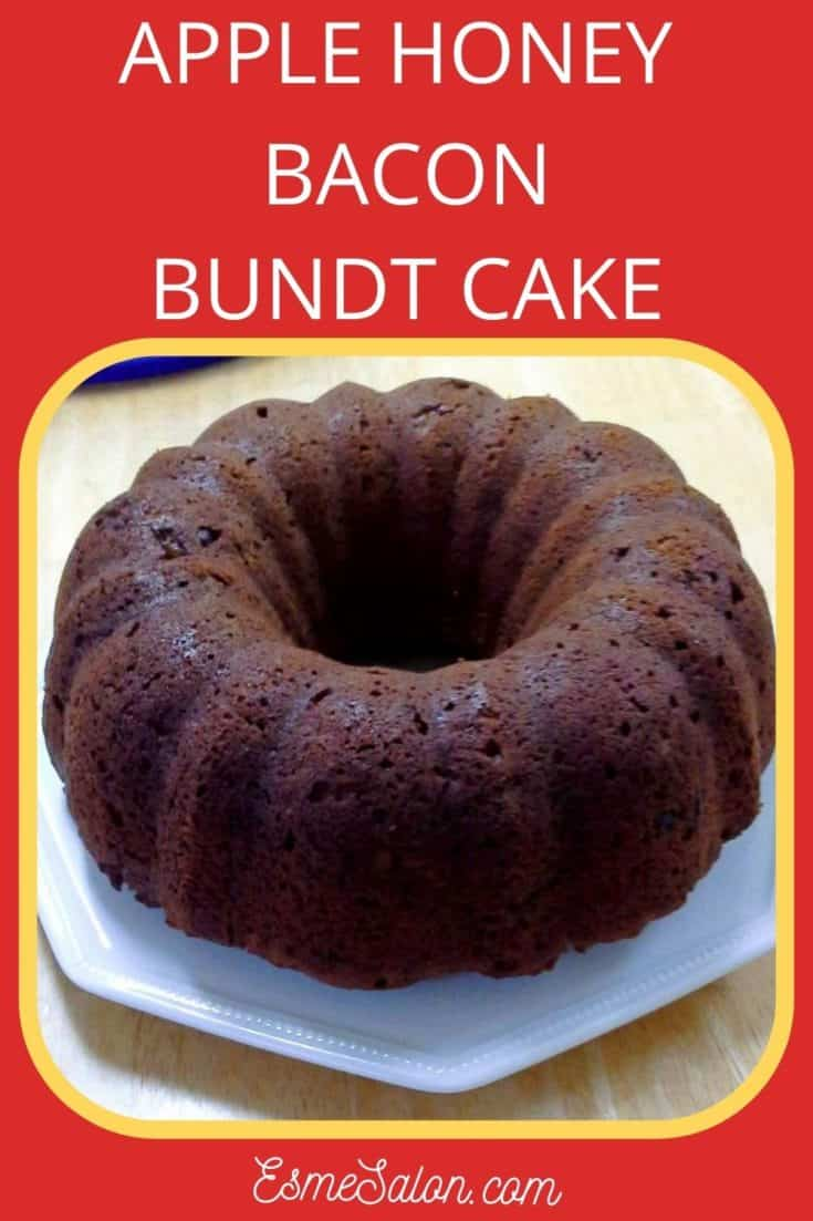 Apple Honey Bacon Bundt Cake