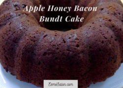 Apple Honey Bacon Bundt Cake