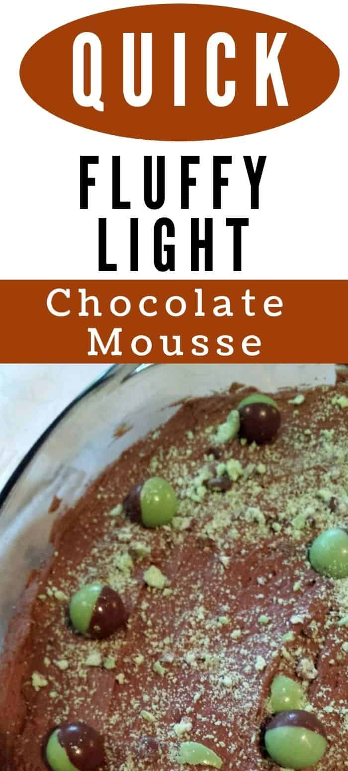 Light Fluffy Chocolate Mousse