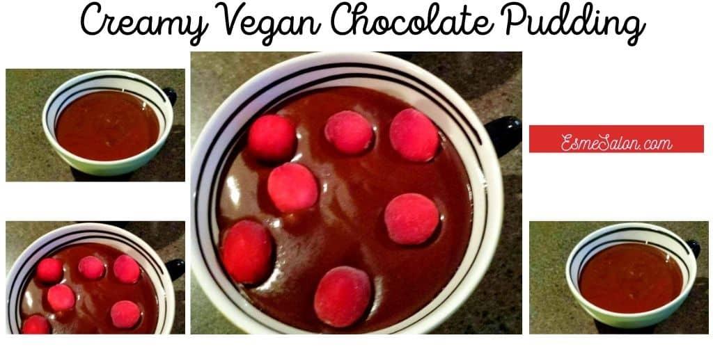 Creamy Vegan Chocolate Pudding Coconut milk Tw