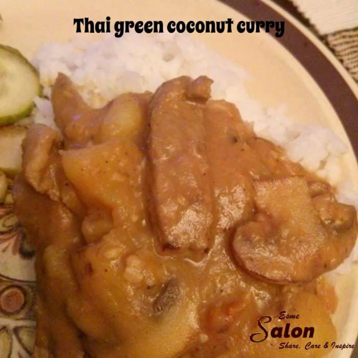 Thai green coconut curry