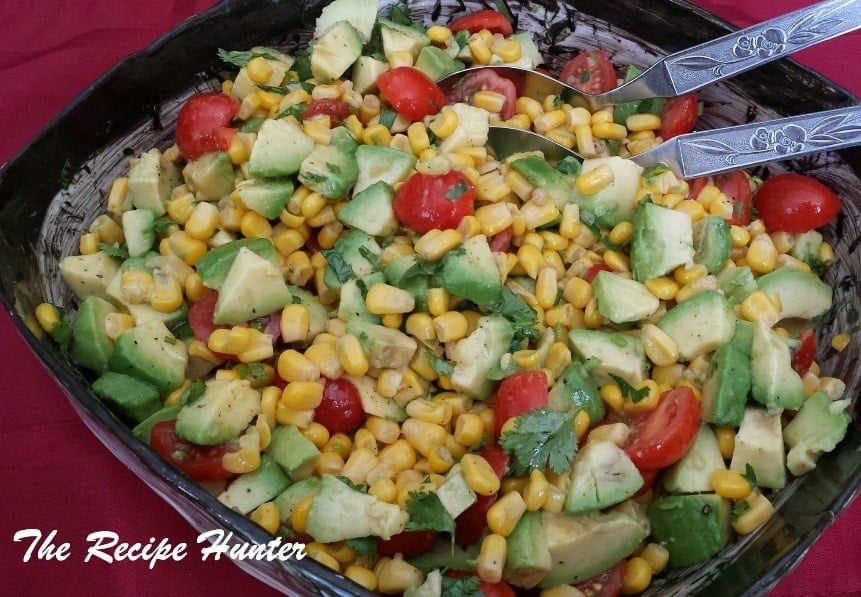GRILLED CORN, AVOCADO AND TOMATO SALAD WITH LIME