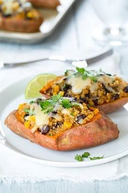 Honey-Lime Quinoa Stuffed Sweet Potatoes