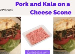 Pork and Kale on a Cheese Scone