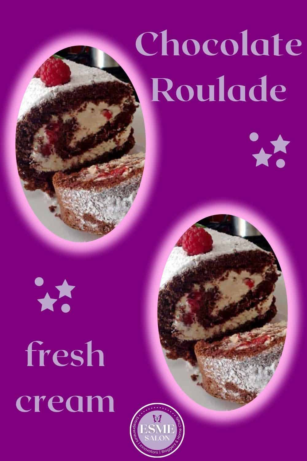 2 rolls of Chocolate Roulade
