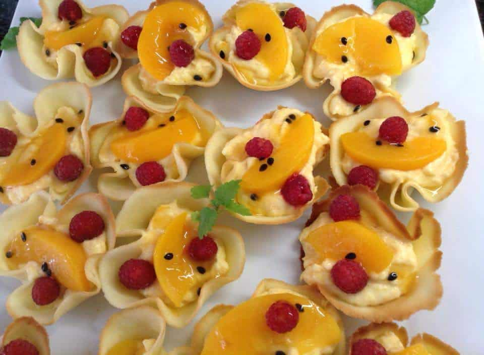 Fruit Custard Tuile Baskets