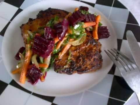 Pan seared succulent chicken breast
