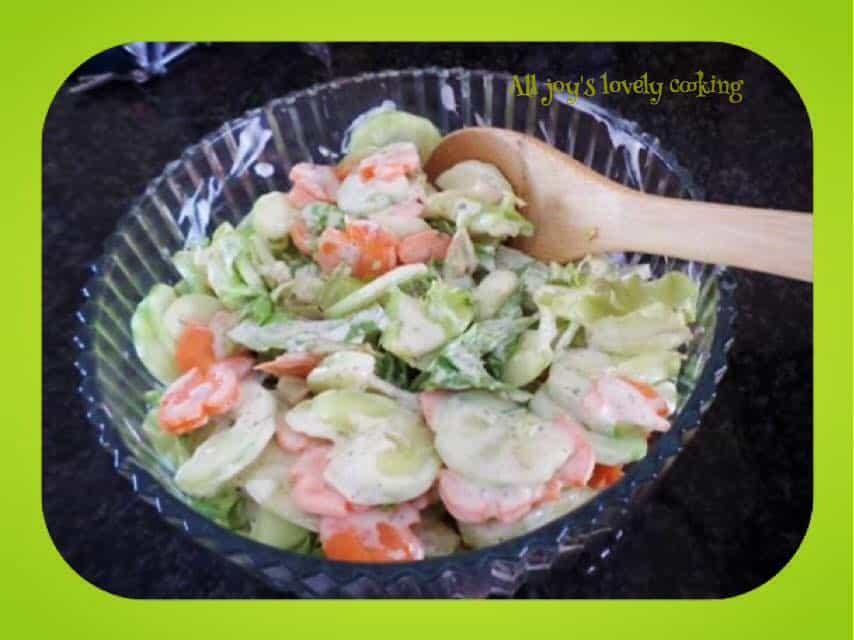 Greek Salad with greek and Feta salad dressings