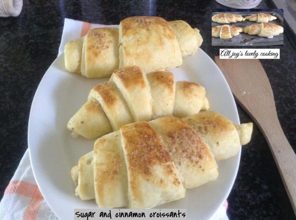Sugar and Cinnamon Croissants