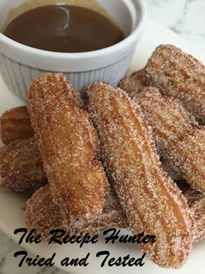 TRH Churros with chocolate dipping sauce