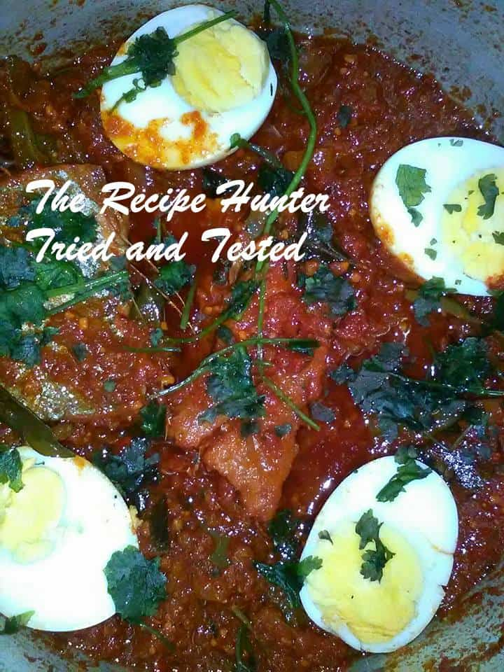 TRH Dry fish Snoek chutney and Boiled eggs with Mielie rice1