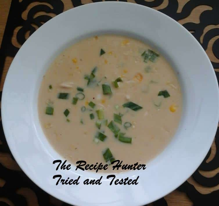 TRH Thai Inspired Chicken Sweetcorn Soup