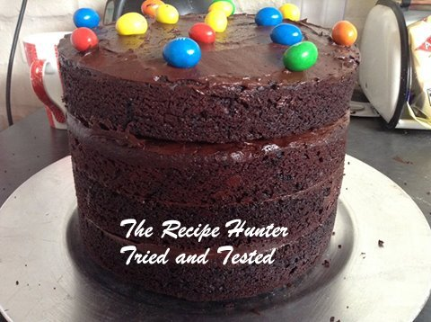 TRH Bobby's Eggless Chocolate surprise cake1