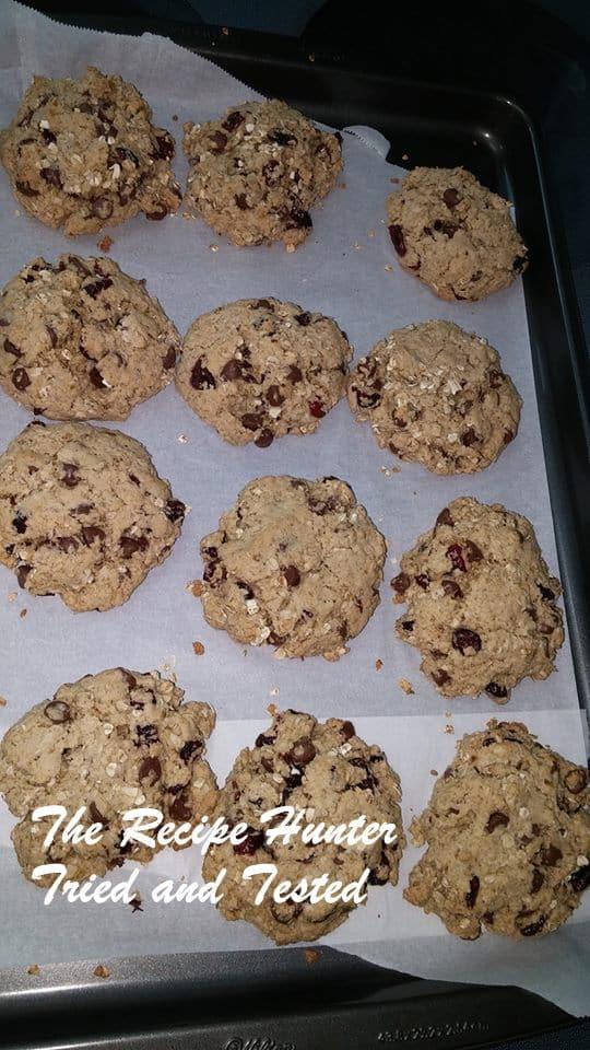 TRH Corlea's Oatmeal, cranberry, & chocolate chip cookies
