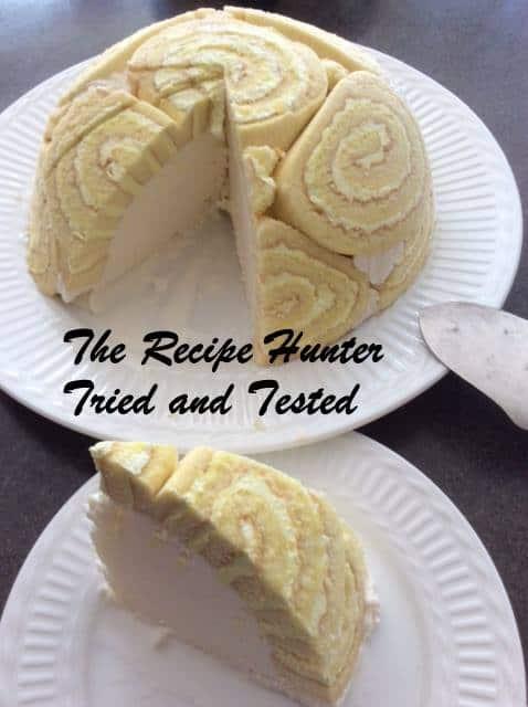 TRH Corlea's Winter Swiss roll dessert