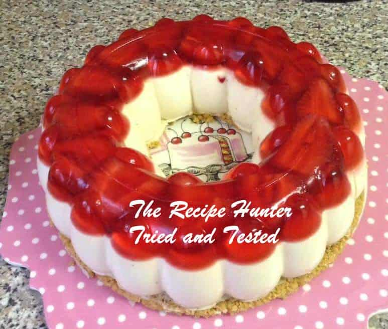 TRH Gail's Fridge strawberry cheese cake with fresh strawberries and strawberry jelly