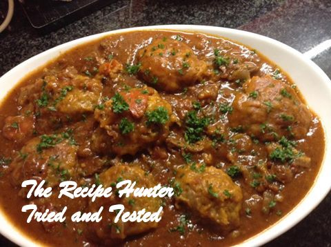 TRH Hearty Beef Tomato Stew & Dumplings