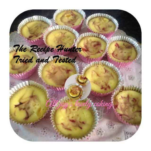 TRH Joy's Mini Raspberry Swirl Cheesecake