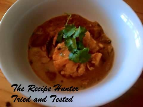 TRH Nazley's Aubergine (brinjal) in a creamy coconut sauce Topped with fish poached in the creamy sauce