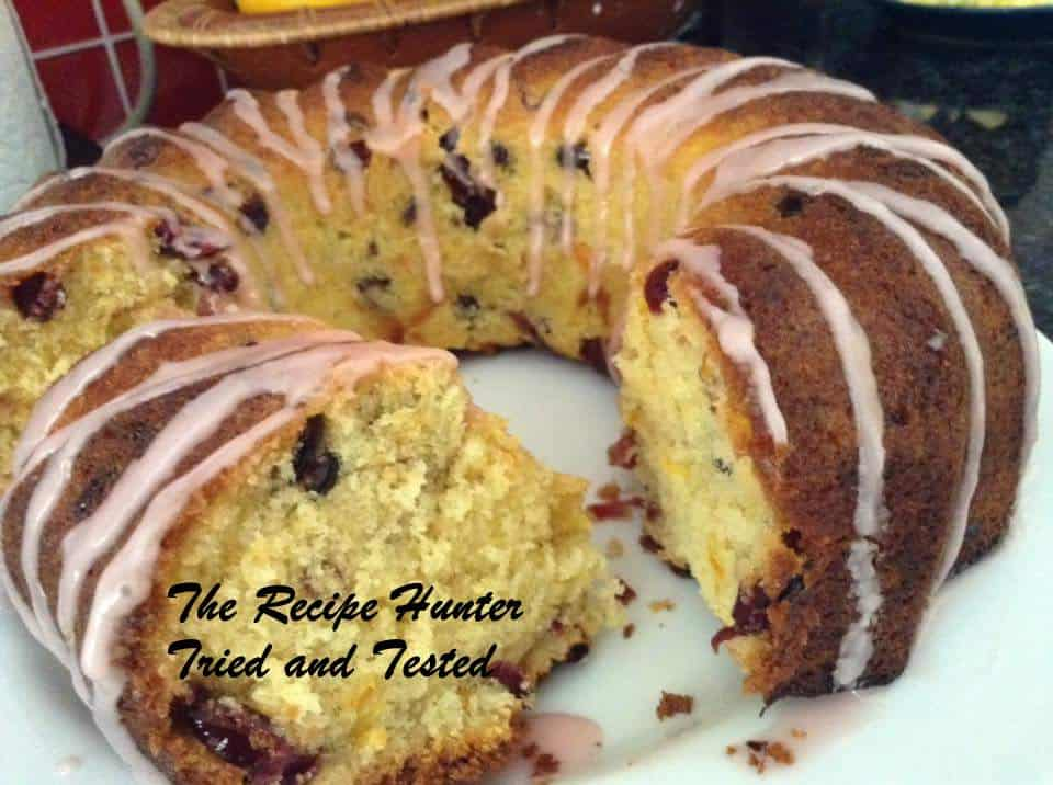 TRH ORANGE CRANBERRY BUNDT OR LOAF, WITH AN ORANGE GLAZE