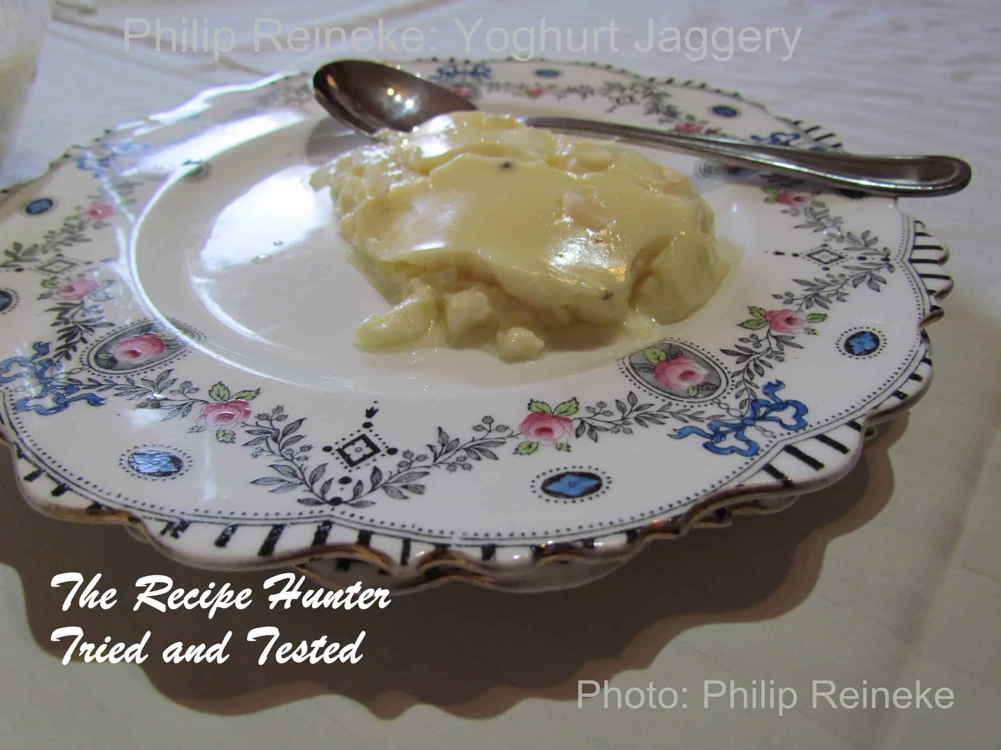 TRH Phillip's Yoghurt jaggery - dessert