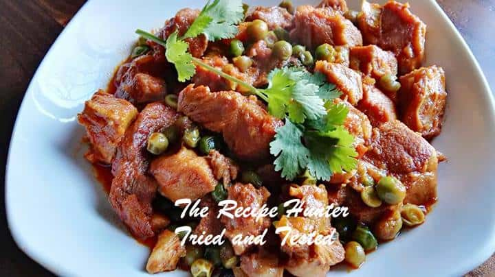 TRH Sureka's Turkey curry with peas