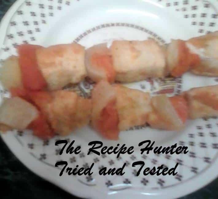 TRH Sadsac's Apricot chicken kebabs