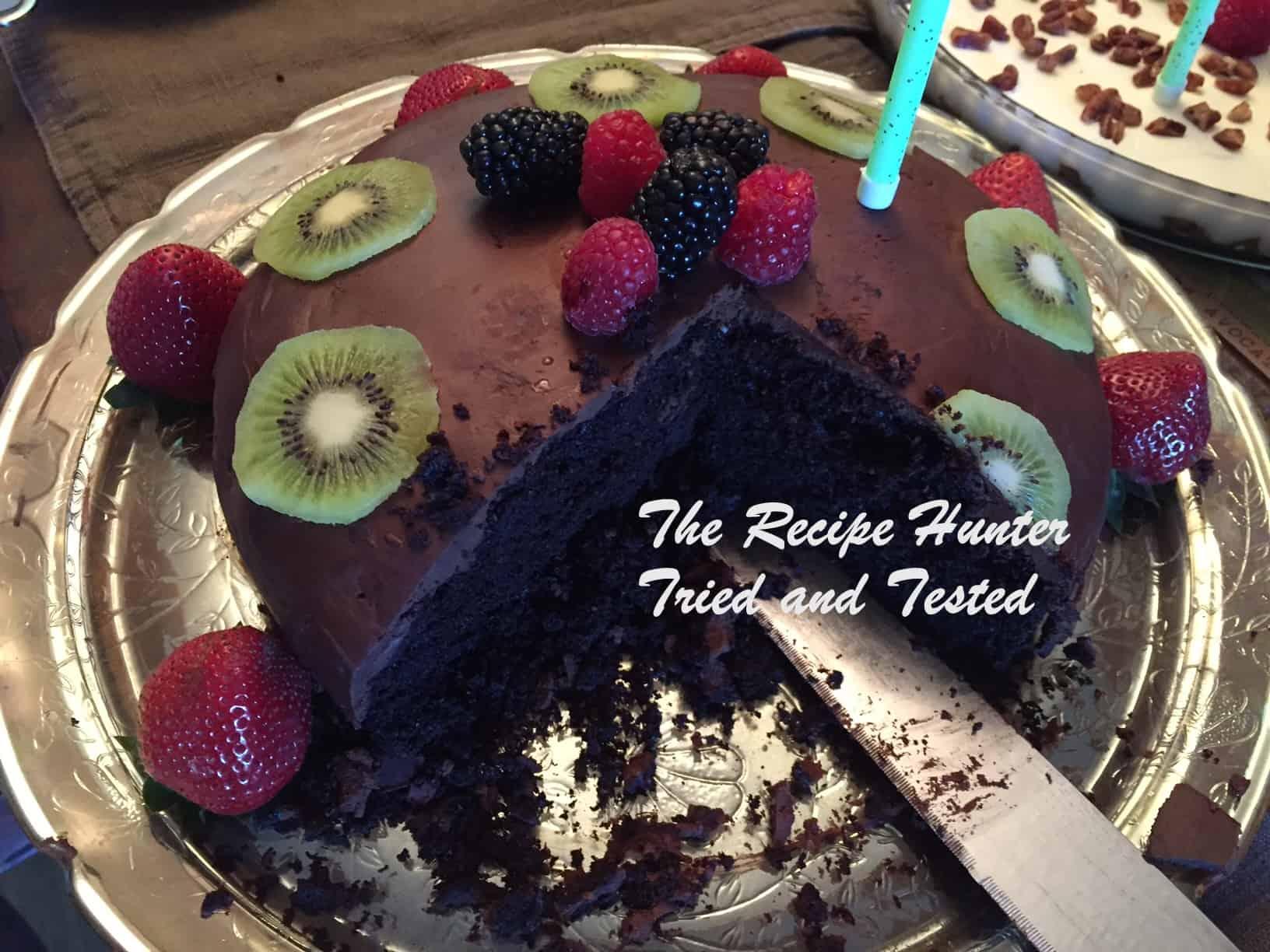 TRH Es's Vegan Chocolate cake with Vegan Ganache