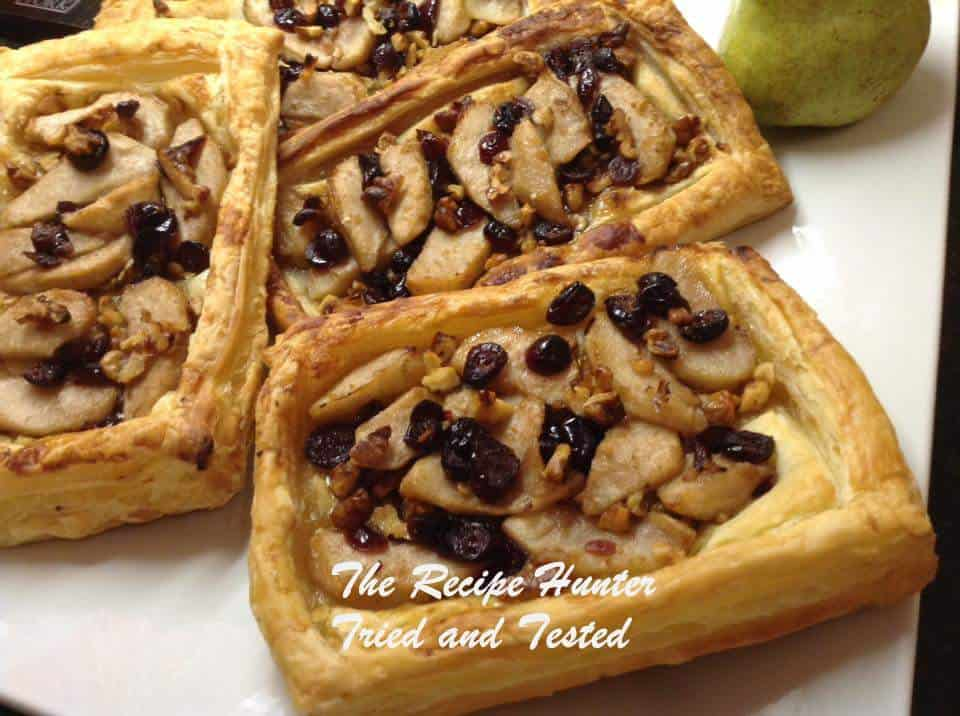 TRH Gail's Pear, Cranberry & Walnut Tarts