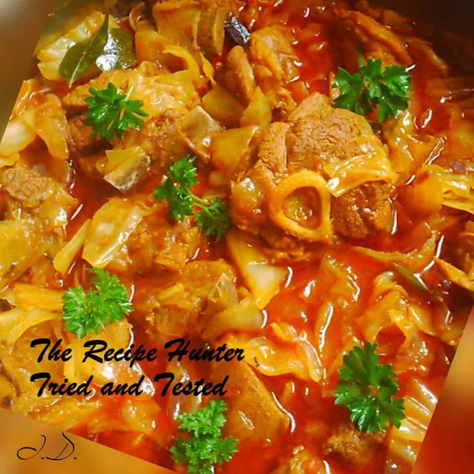 TRH Irene's Lamb and Cabbage Curry