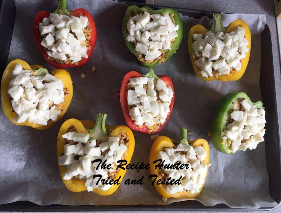 Jasmita's Easy Couscous filled peppers