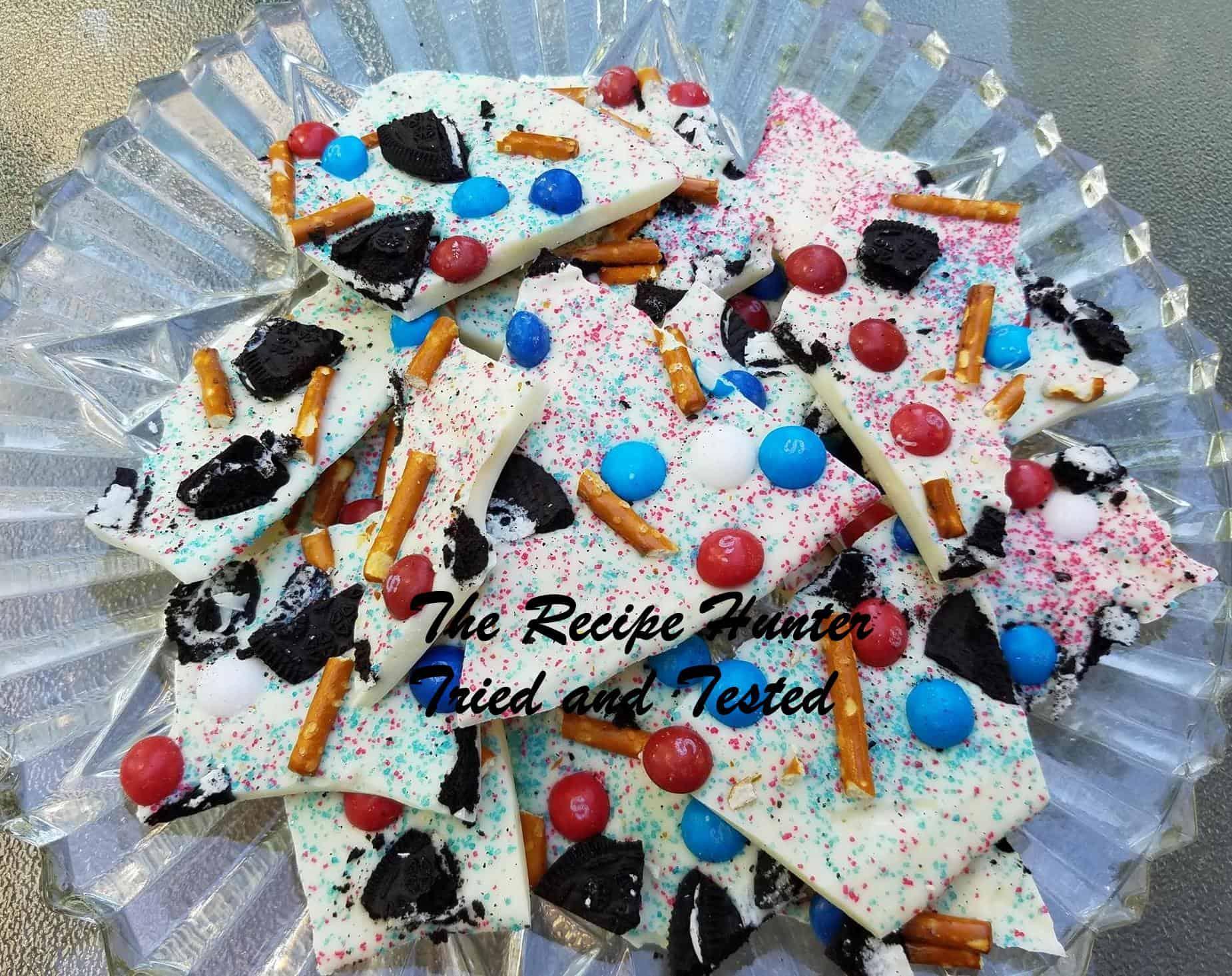 TRH Jill's Fourth of July Skittle Bark