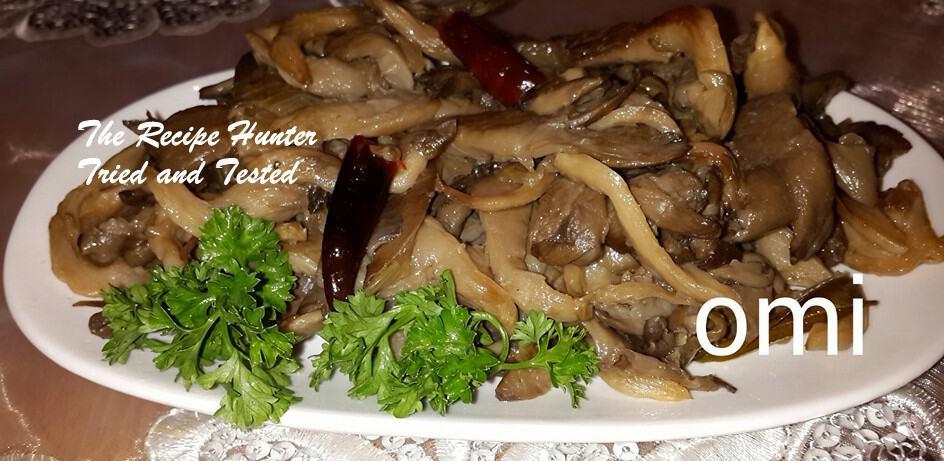 Omi's Braised Oyster Mushrooms