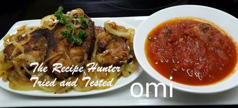 TRH Omi's Masala fried line fish and tomato chutney