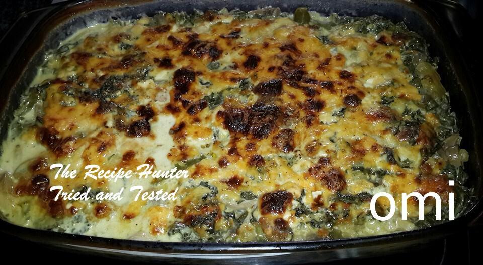 TRH Omi's Spinach and mushroom lasagne
