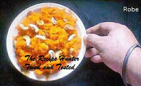 Robin's Semolina Halwa Indian Dish