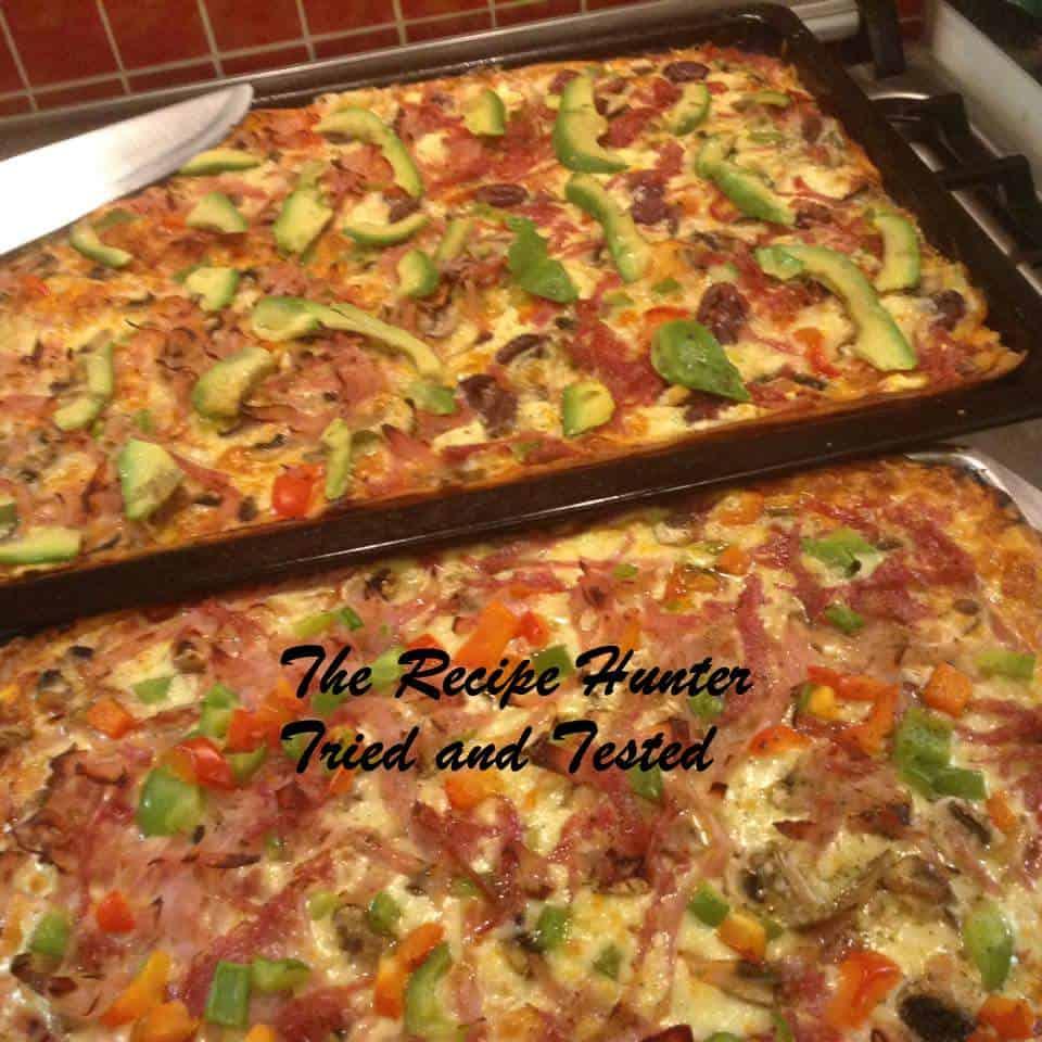 TRH Gail's Homemade tray pizza