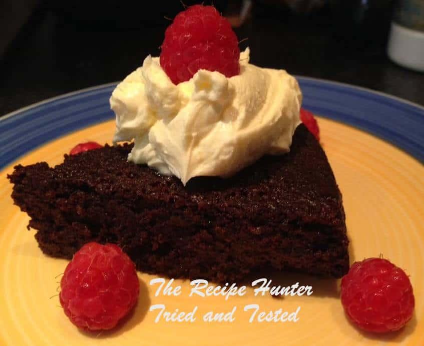 TRH Neerasha's Flourless, sugarless chocolate cake