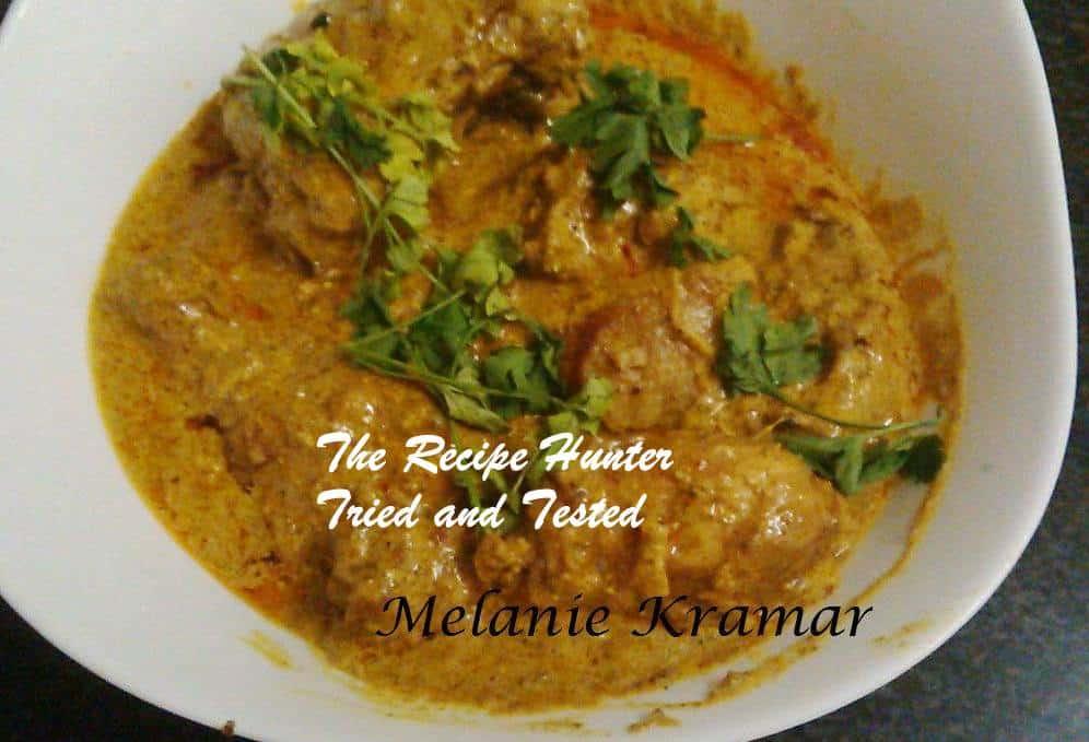 TRH Melanie's Chicken Curry With Créme Fraiche