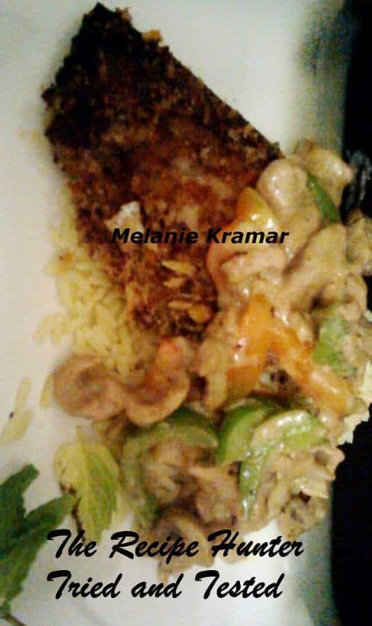 TRH Melanie's Pamesan Crumbed Pork Chop with Cream Pepper Chicken