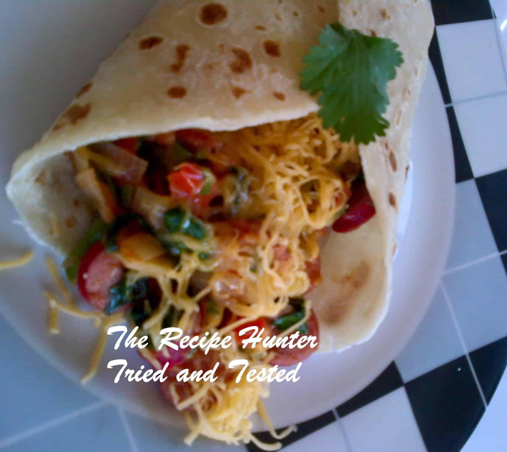 TRH Nazley's Saute Vienna's & Veggie Cheesy wrap1
