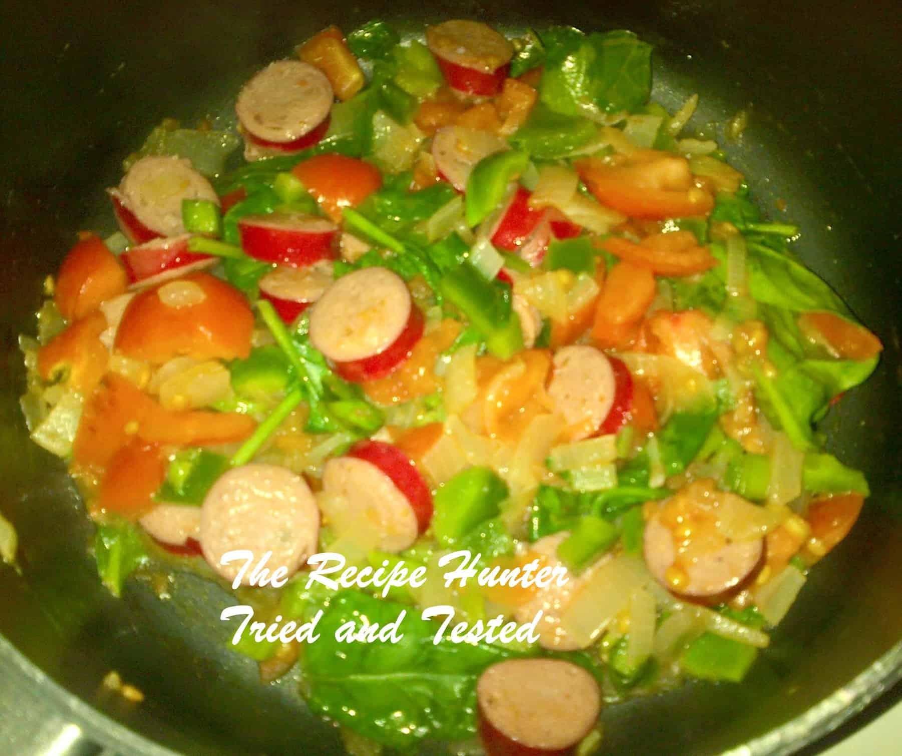 TRH Nazley's Saute Vienna's & Veggie Cheesy wrap2