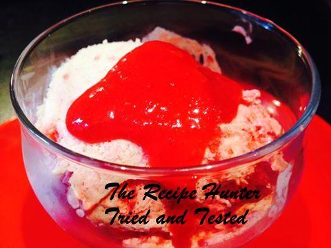 TRH Neerasha's Rasberry and Strawberry ripple ice cream