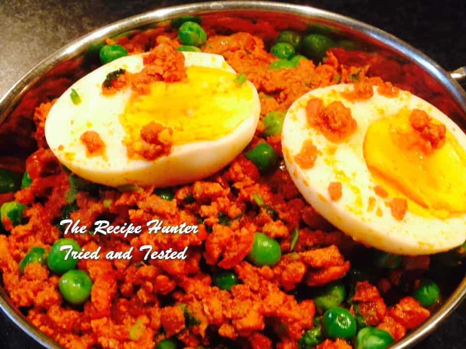 TRH Neerasha's Turkey mince curry with peas and boiled eggs