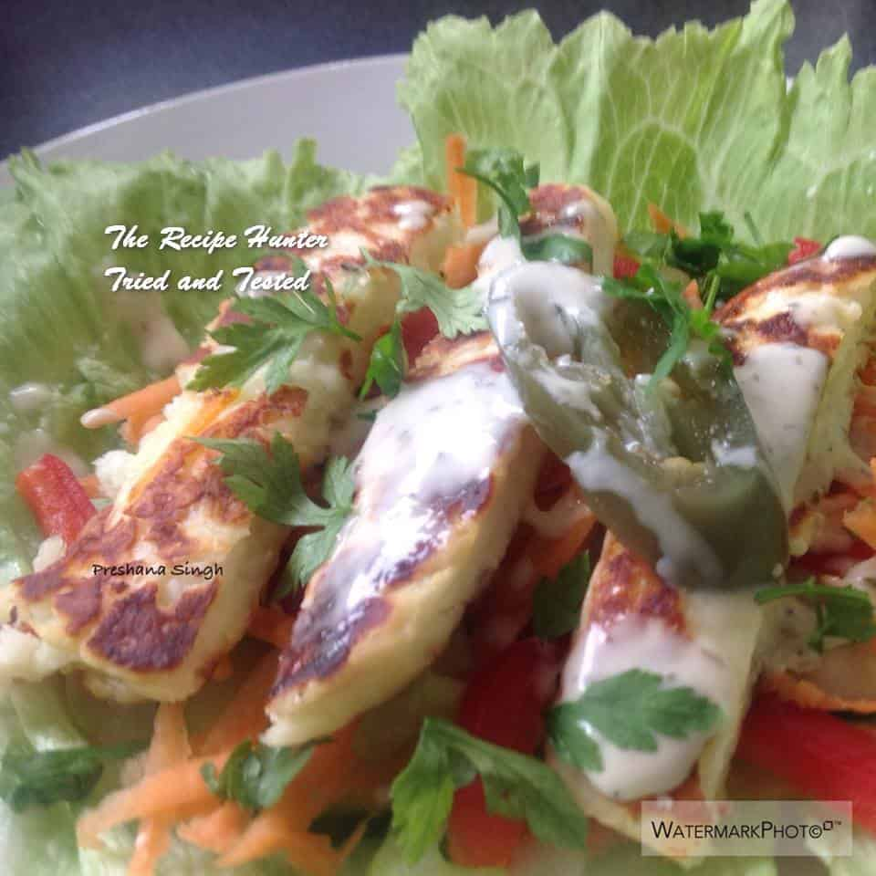 TRH Preshana's Halloumi salad bowl or a Halloumi salad roll up1