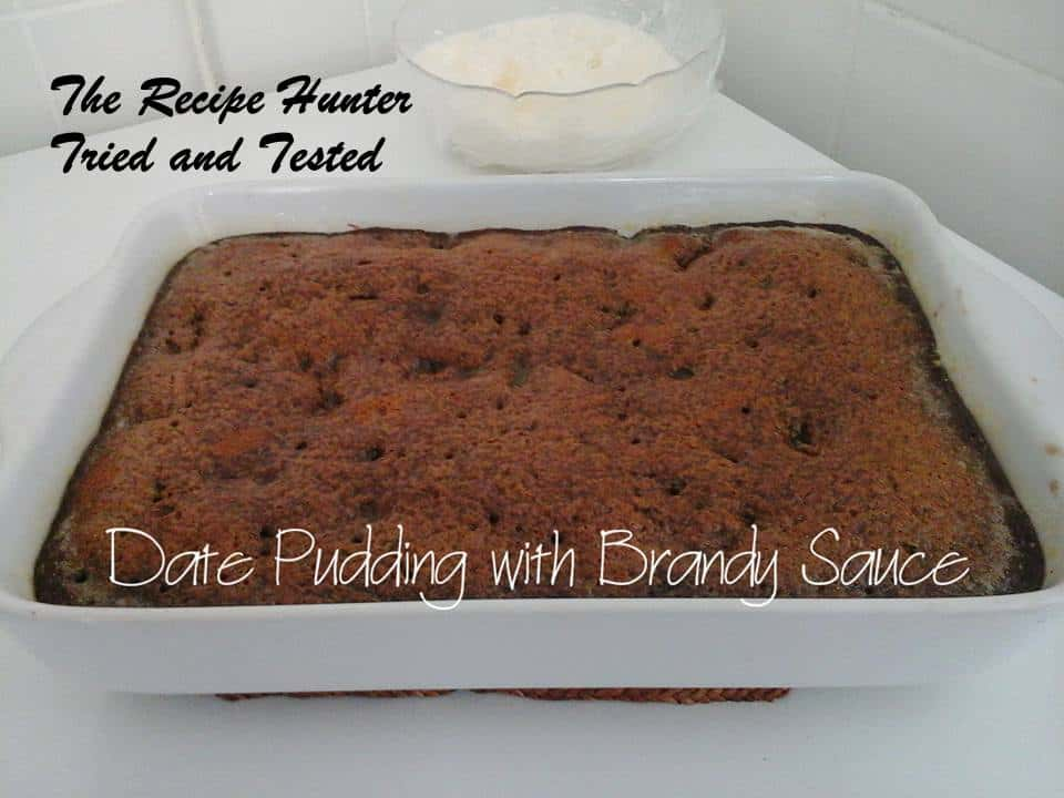 Priscilla's Date Pudding with Brandy Sauce