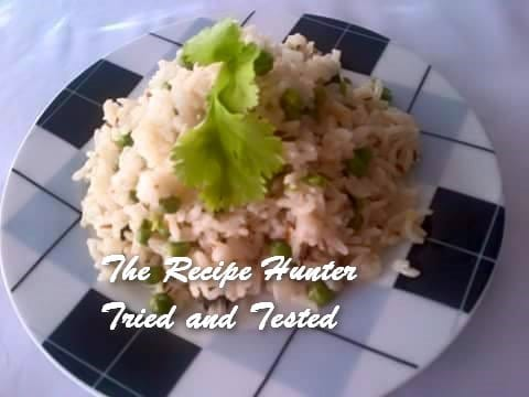 TRH Pulaw basmati rice with coconut, jeera and baby peas