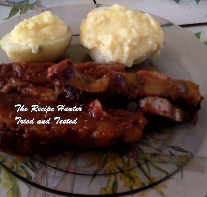 TRH Sadsac's Jack Daniel's beef ribs and Suffed potatoes