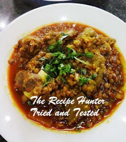 TRH Sureka's Mutton with lentils